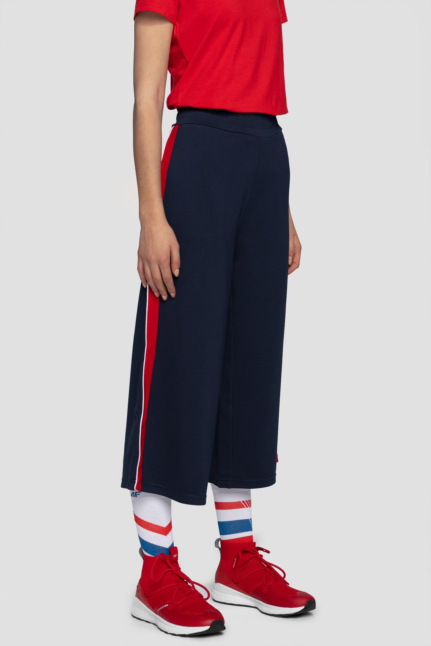 Imagine  Pantaloni De Molton Pentru Femei Spdd260 Bleumarin inchis