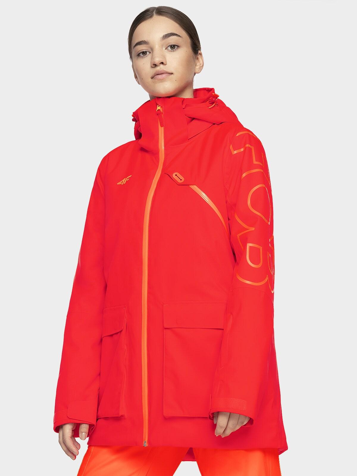 Imagine Jacheta De Snowboard Pentru Femei Kuds204 Rosu Neon