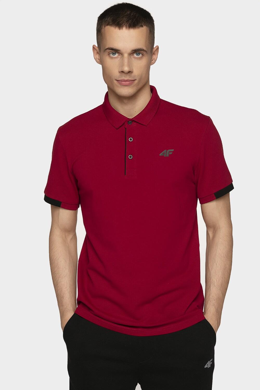 Imagine Tricou Polo Pentru Barbati Tsm303 Rosu inchis