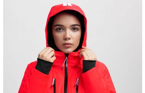 Jachetă de schi pentru femei KUDN251A - roșu neon