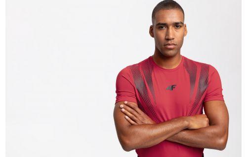 Tricou de antrenament pentru bărbați TSMF204 - roșu