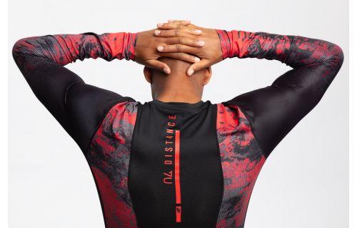 Tricou cu mânecă lungă de antrenament pentru bărbați TSMLF201 - roșu allover