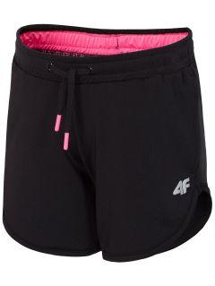 pantaloni scurți sport pentru fetițe jskdd300 - negri