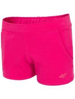 Pantaloni scurţi de molton pentru fetiţe JSKDD100 - fuchsie