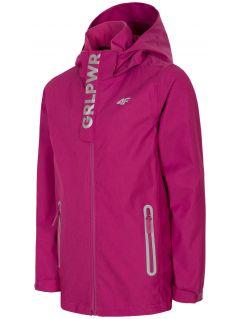 Jacheta de oraş pentru fetiţe JKUD304 - roz
