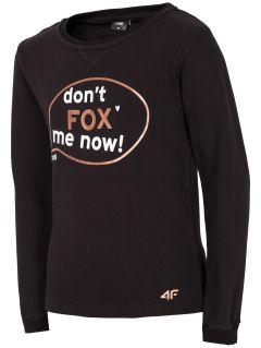Bluza pentru fetiţe JBLD106 - negru
