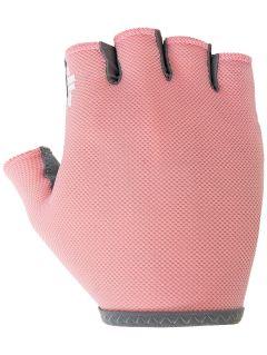 Mănuși bicicletă unisex RRU001 - somon roz