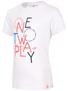 Tricou pentru fetițe JtSD108 - alb