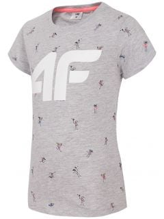 Tricou pentru fetițe JTSD107 - gri melanj