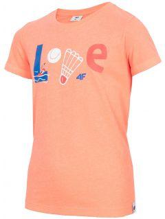 Tricou pentru fete mari JtSD212 - neon coral