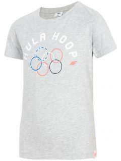 Tricou pentru fete mari JtSD212 - melanj gri