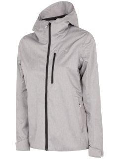 Jachetă pentru femei KUD240 - gri rece deschis melanj