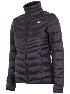 Jachetă din puf pentru femei KUDP300 - negru profund
