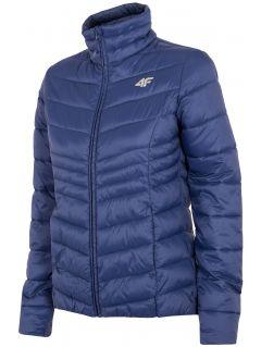 Jachetă din puf pentru femei KUDP300 - bleumarin