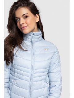 Jachetă din puf pentru femei KUDP300 - albastru deschis