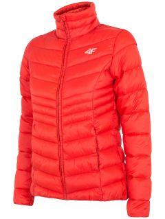 Jachetă din puf pentru femei KUDP300 - roșu