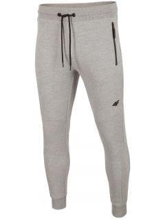 Pantaloni de molton pentru bărbați SPMD201 - gri înspicat lumină melanj