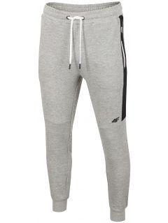 Pantaloni de molton pentru bărbați SPMD206 - gri înspicat lumină melanj