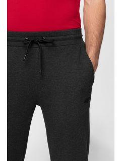 Pantaloni de molton pentru bărbați SPMD301 - gri închis melanj