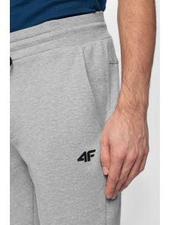 Pantaloni de molton pentru bărbați SPMD301 - gri înspicat lumină melanj