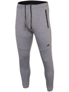 Pantaloni de antrenament pentru bărbați SPMTR271 - gri mediu melanj