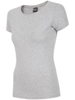 Tricou pentru femei TSD300 - gri înspicat lumină melanj