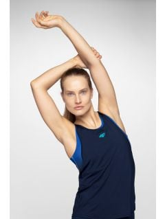 Top de antrenament pentru femei TSDF203 - bleumarin