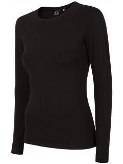 Tricou cu mânecă lungă pentru femei TSDL300 - negru profund