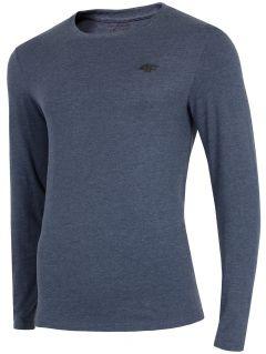 Tricou cu mânecă lungă pentru bărbați TSML300 - denim melanj