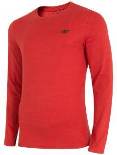 Tricou cu mânecă lungă pentru bărbați TSML300 - roșu melanj
