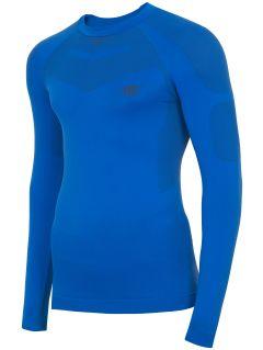 Lenjerie fără cusături (parte de sus) pentru bărbați BIMB300G - albastru