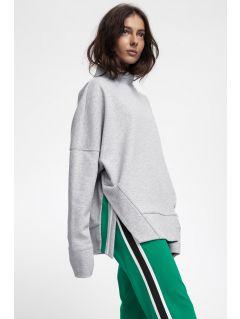 Bluza pentru femei BLD220 - gri înspicat lumină melanj
