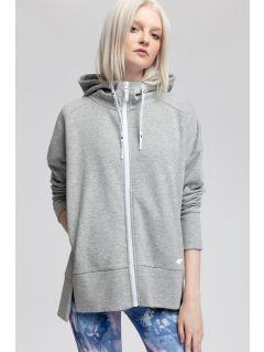 Bluza pentru femei BLD400 - gri înspicat lumină