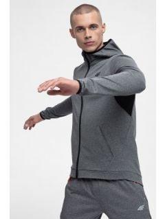 Bluza de antrenament pentru bărbaţi BLMF300 - gri înspicat mediu