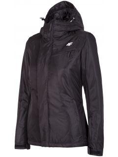 Jachetă de schi pentru femei KUDN253 - negru profund