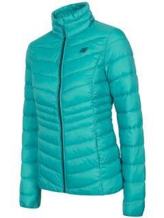 Jacheta cu puf pentru femei KUDP210 - turcoaz