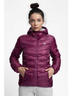 Jacheta din puf pentru femei KUDP211 - violet închis