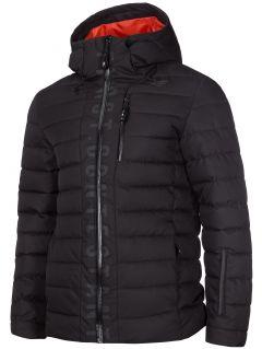 Jachetă din puf pentru bărbați KUMP203 - negru profund