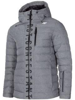 Jachetă din puf pentru bărbați KUMP203 - gri închis melanj