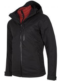 Jacheta de trekking 3în1 pentru bărbați KUMT200R - negru profund