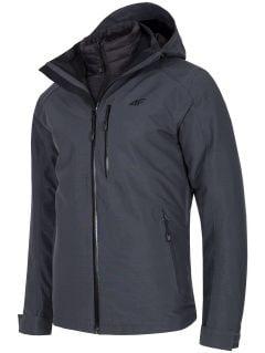 Jacheta de trekking 3în1 pentru bărbați KUMT200R - gri melanj