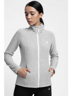 Bluza din fleece pentru femei PLD300 - gri înspicat lumină