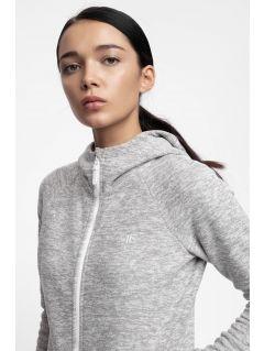 Bluza din fleece pentru femei PLD302 - gri înspicat lumină