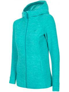 Bluza din fleece pentru femei PLD302 - turcoaz melanj