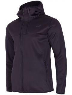 Bluză din fleece pentru bărbați PLM251 - negru profund