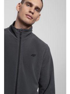 Bluza din fleece pentru barbați PLM300 - gri mediu