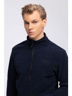 Bluza din fleece pentru barbați PLM300 - bleumarin melanj