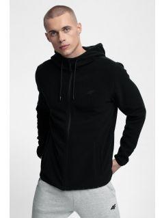 Bluza din fleece pentru bărbați PLM302 - gri mediu melanj