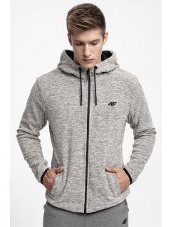 Bluza din fleece pentru bărbați PLM302 - negru profund