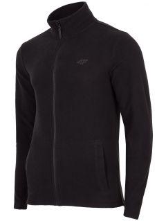 Bluza din fleece pentru bărbați PLM304 - negru profund